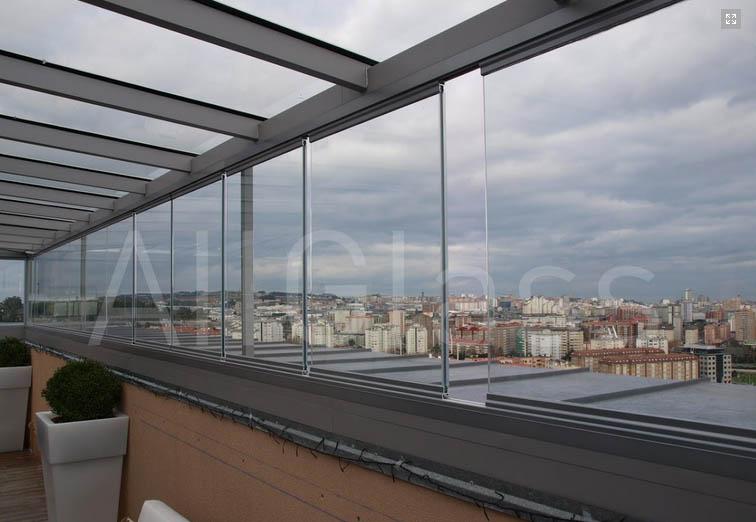 Frampe cortinas de cristal murcia - Cerramientos de aticos ...